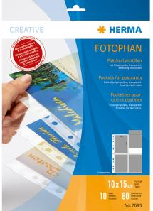 Herma Photo sleeves for postcards - 10 sheets