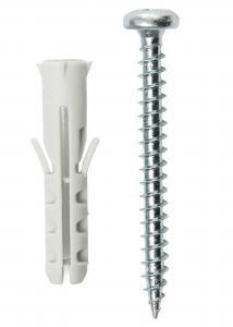 Hallmiba Plug 25 x 5.5 mm with screw 10 pack