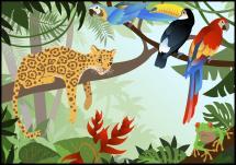 Bildverkstad Jungle Animals Poster