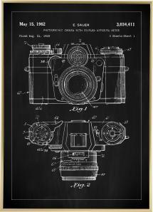 Lagervaror egen produktion Patent drawing - Camera I - Black Poster