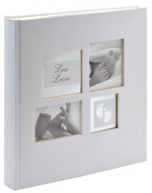 Walther Little Foot Album Grey-white - 28x30.5 cm (60 White pages / 30 sheets)
