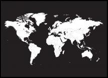 Bildverkstad World map White Poster