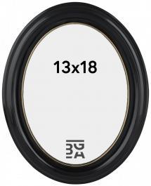 Estancia Eiri Mozart Oval Black 13x18 cm