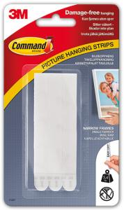 Penselgrossisten Hallström 3M Command Picture hanging strips white with velcro thin (13 mm) - 4 pairs