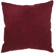 Fondaco Pillow Case Isac - Wine-red 50x50 cm