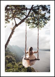 Lagervaror egen produktion Swing with a View Poster