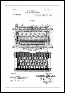 Bildverkstad Patent drawing - Typewriter Poster