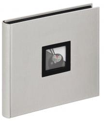 Walther Black & White Photo Album Grey - 26x25 cm (50 Black pages / 25 sheets)