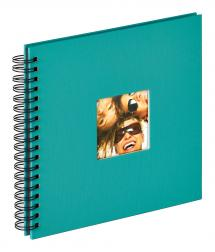 Walther Fun Spiral bound album Green - 26x25 cm (40 Black pages / 20 sheets)