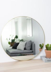 House Nordic Mirror Jersey Brass 80 cm Ø