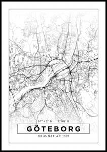 Bildverkstad Map - Göteborg - White Poster