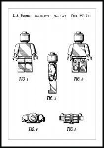 Lagervaror egen produktion Patent drawing - Lego I Poster