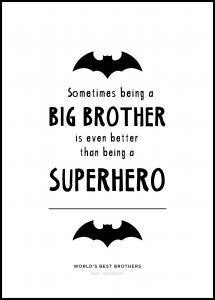 Personlig poster Superhero BRoother