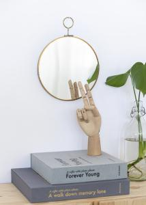Society of Lifestyle Mirror House Doctor Loop Brass 22 cm Ø