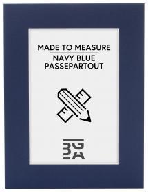 Egen tillverkning - Passepartouter Mount Navy - Custom Size (White Core)