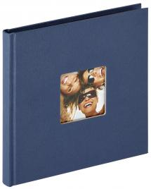 Walther Fun Photo Album Blue - 18x18 cm (30 Black pages / 15 sheets)