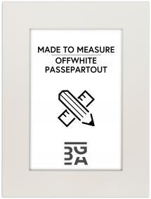Egen tillverkning - Passepartouter Passepartout Offwhite (White Core) - Custom Size