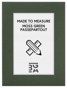 Egen tillverkning - Passepartouter Mount Moss green - Custom Size (White Core)