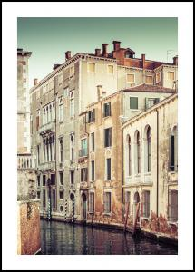 Bildverkstad Canal in Venice Poster