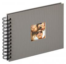 Walther Fun Spiral bound album Grey - 23x17 cm (40 Black pages / 20 sheets)