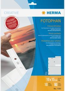 Herma photo sleeves 10x15 cm vertical - 10-pack white