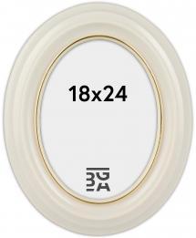 Estancia Eiri Mozart Oval White 18x24 cm