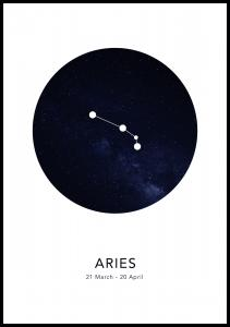 Lagervaror egen produktion Aries Poster