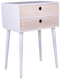 House Nordic Bedside table Rimini 32x45 cm - White/Wood
