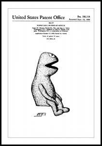 Bildverkstad Patent drawing - The Muppets - Kermit I Poster