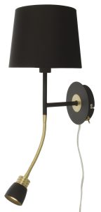 Aneta Belysning Wall Lamp Eketorp - Black/Brass