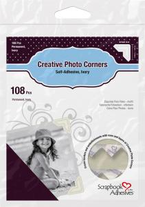 Focus 3L Creative Photo Corners White - 108 pack