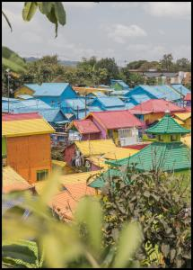 Bildverkstad Colorful Village Poster