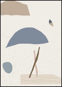 Lagervaror egen produktion Abstract Art - Blue Poster