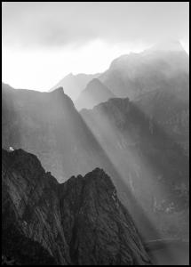 Bildverkstad Shadow On Mountains Poster