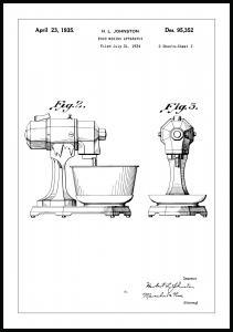 Bildverkstad Patent drawing - Mixer II Poster