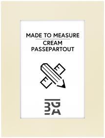 Egen tillverkning - Passepartouter Mount Cream (White Core) - Custom Size