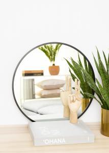 KAILA KAILA Round Mirror - Edge Black 50 cm Ø