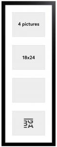 Galleri 1 Black Wood Collage frame - 4 Pictures (18x24 cm)