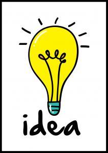 Bildverkstad Lightbulb Poster