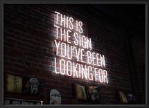 Lagervaror egen produktion The sign Poster