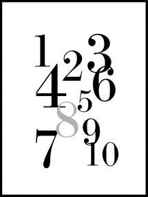 Bildverkstad 1-10 - Black/grey Poster