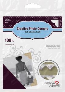 Focus 3L Creative Photo Corners Brown - 108 pack