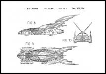 Bildverkstad Patent drawing - Batman - Batmobile 1996 IIII Poster