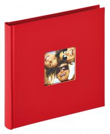 Walther Fun Album Red - 18x18 cm (30 Black pages / 15 sheets)