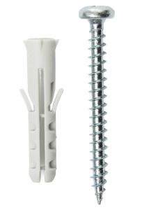 Plug 30 x 6 mm with screw 10 pack