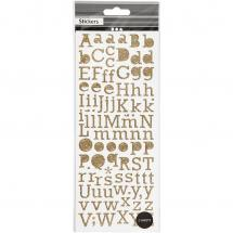Focus Focus Glitter stickers Gold Letters