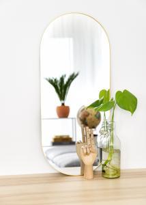 KAILA KAILA Oval Mirror - Thin Brass 35x80 cm