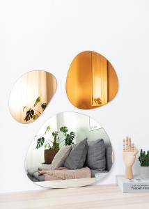 Incado Mirror Set Orange, Rose Gold & Clear - 3 pieces