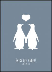 Personlig poster Penguin Love