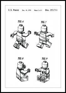 Lagervaror egen produktion Patent drawing - Lego II Poster